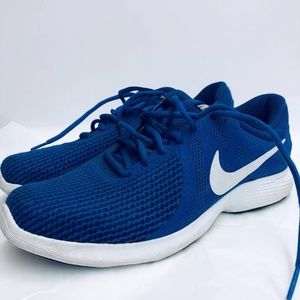 Nike Royal Blue Lace Up Mesh Running Sneakers